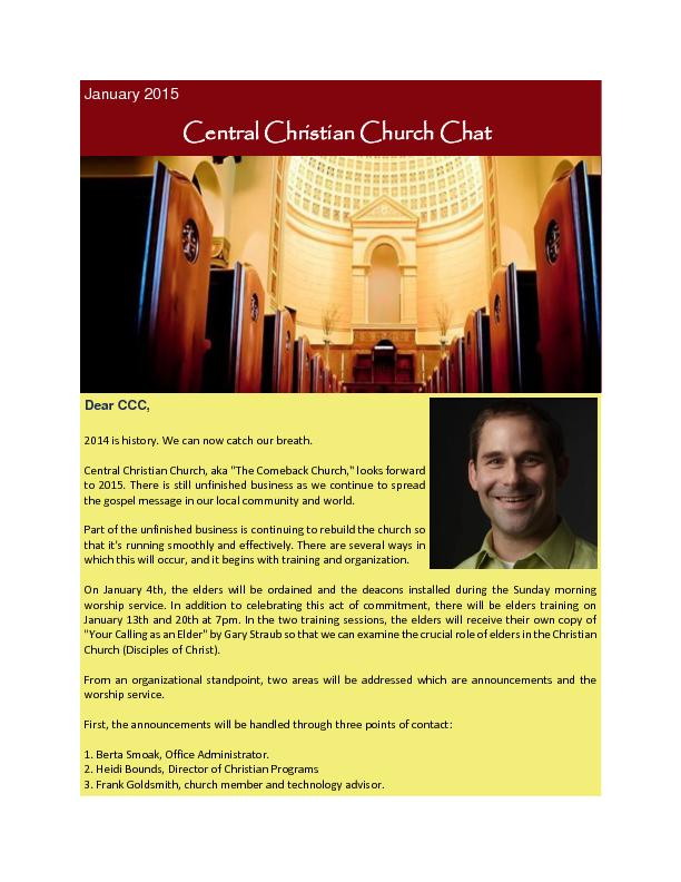 Central Christian Church Chat