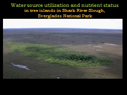 Water source utilization and nutrient status PowerPoint PPT Presentation