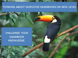 EMPLOYEE HANDBOOKS PowerPoint PPT Presentation