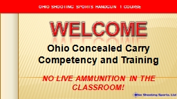 Ohio Concealed Carry Competency and Training