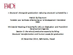 « Structural change for graduation: