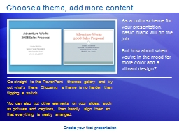 Create your first presentation PowerPoint PPT Presentation