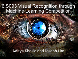 6.S093 Visual Recognition through Machine Learning Competit