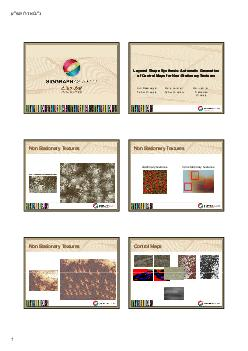Layered Shape Synthesis Automatic Generation of Control Maps for NonStationary Textures Layered Shape Synthesis Automatic Generation of Control Maps for NonStationary Textures  layer    TTE EETT ET D