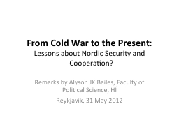 From Cold War to the Present