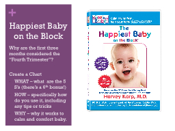 Happiest Baby on the Block PowerPoint PPT Presentation