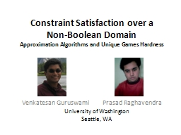 Constraint Satisfaction over a