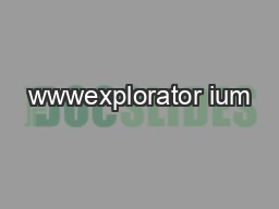wwwexplorator ium PDF document - DocSlides
