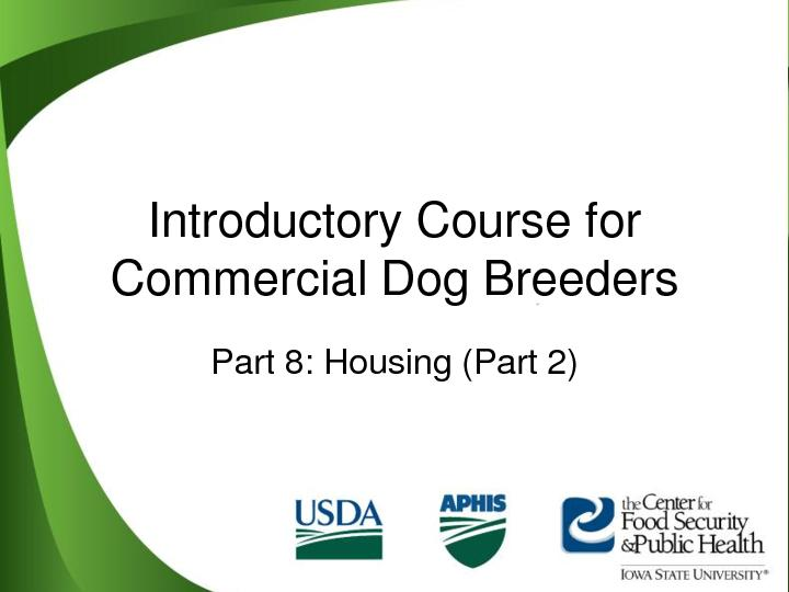 Introductory Course for