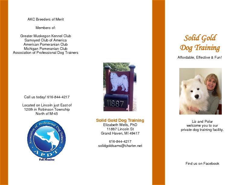 Solid Gold  Dog Training Affordable, Effective & Fun! Find us on Faceb