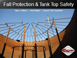 Fall Protection & Tank Top Safety