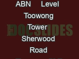 Home Instead Senior Care ABN     Level  Toowong Tower  Sherwood Road Toowong QLD PDF document - DocSlides