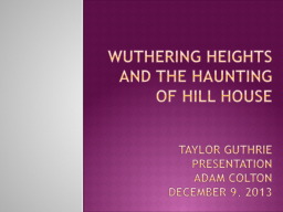 Wuthering Heights and The Haunting of hill house PowerPoint PPT Presentation