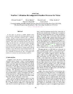 Invited Paper NeuFlow A Runtime Recongurable Dataow Processor for Vision Cl ement Farabet Berin Martini Benoit Corda Polina Akselrod Eugenio Culurciello Yann LeCun Courant Institute of Mathematical S