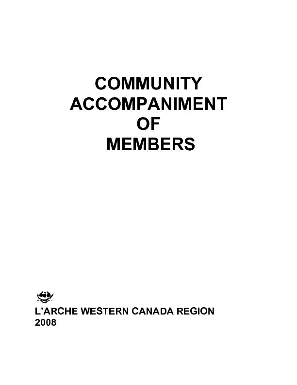 COMMUNITY ACCOMPANIMENT OF MEMBERS