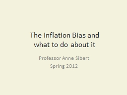 The Inflation Bias and
