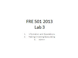FRE 501 2013
