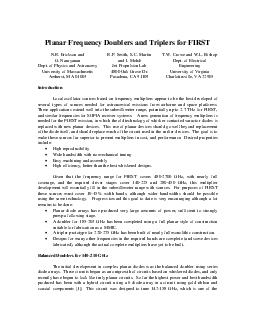 Planar Frequency Doublers and Triplers for FIRST N