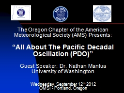 The Oregon Chapter of the American