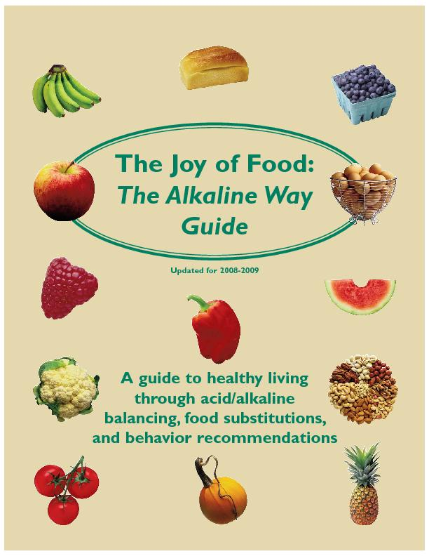 A guide to healthy living through acid/alkaline balancing, food substi