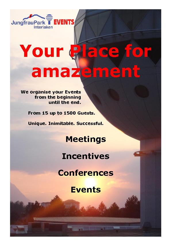 We organise your Events