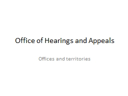 Office of Hearings and Appeals
