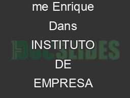 BB Marketplaces Whats in it for me Enrique Dans INSTITUTO DE EMPRESA Mara de Molina    Madrid Spain Enrique