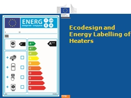 Ecodesign and Energy Labelling of