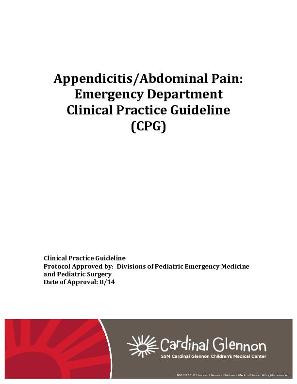 Appendicitis/Abdominal Pain