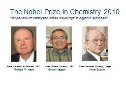 The Nobel Prize in Chemistry 2010 PowerPoint PPT Presentation