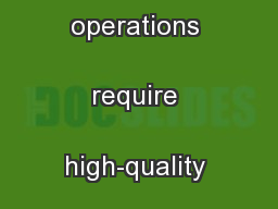 High-quality health care operations require high-quality power.  ...