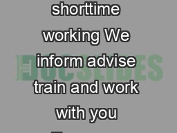 Layoffs and shorttime working We inform advise train and work with you Every yea PDF document - DocSlides