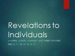 Revelations to PowerPoint PPT Presentation
