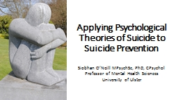 Applying Psychological Theories of Suicide to Suicide Preve