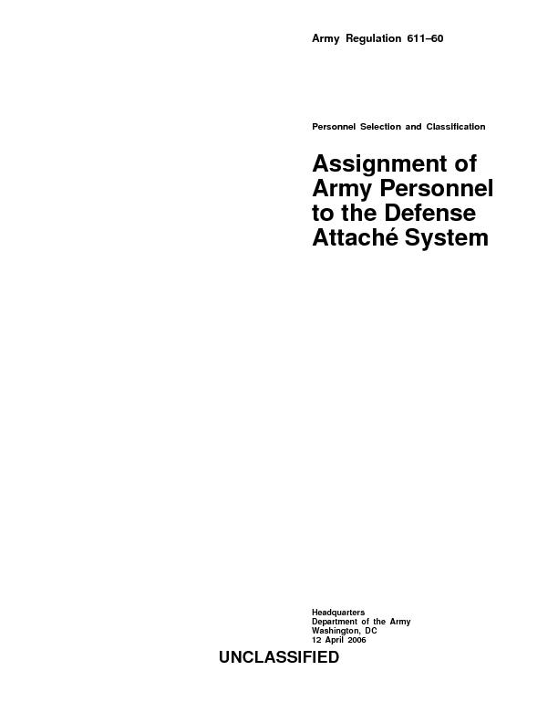 o Changes the title of Army Regulation 611-60 to reflect Army commissi
