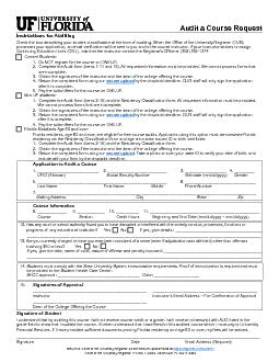 Permit to Audit a Course