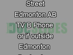 Contact Us Animal Care  Control Centre    Street Edmonton AB TV B Phone  or if outside Edmonton  September  Prevention Dog Bite www