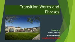 Transition Words and Phrases PowerPoint PPT Presentation