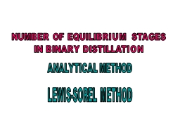 NUMBER OF EQUILIBRIUM STAGES