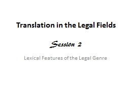 Translation in the Legal Fields