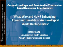 Cultural Heritage and Sustainable Tourism for Local Economi