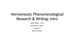 phenomenology as philosophy of research an introductory essay Phenomenology and the metaphysics of presence: an essay in the philosophy of edmund husserl  and an invaluable introductory chapter.