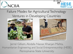Failure Modes for Agricultural Technology Ventures in Devel