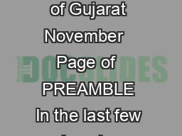IT Policy for the State of Gujarat   Department of Science  Technology Government of Gujarat November   Page of  PREAMBLE In the last few decades ITITeS industry has emerged globally as key driver of