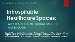 Inhospitable Healthcare Spaces PowerPoint PPT Presentation