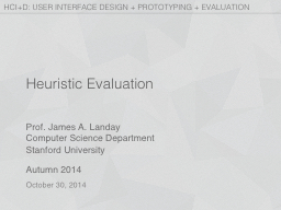 Heuristic Evaluation PowerPoint PPT Presentation
