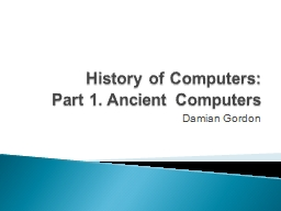 History of Computers: