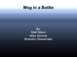 Msg in a Bottle PowerPoint PPT Presentation