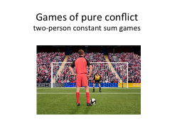 Games of pure conflict