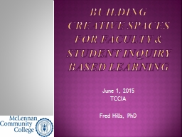 Building Creative Spaces for Faculty PowerPoint PPT Presentation